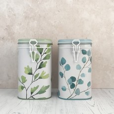 Patterned Tea Caddies