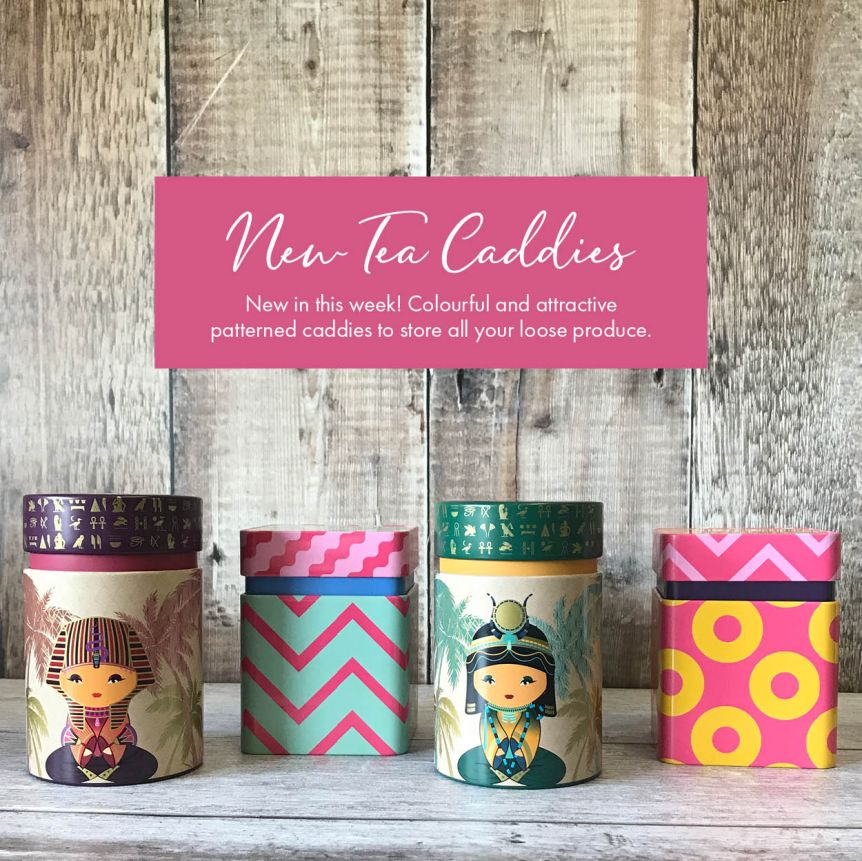 New Caddies and Relaxing Teas to Match