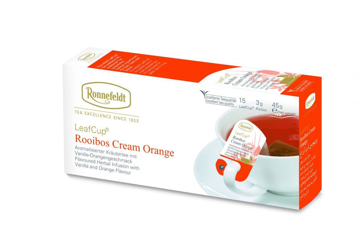 Buy Ronnefeldt Leafcup Cream Orange Online Cup Of Tea Ltd