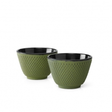Xilin Cast Iron Cups Green Set of 2