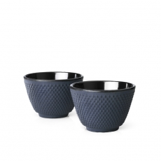 Xilin Cast Iron Cups Blue-Black Set of 2