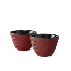 Xilin Red Cast Iron Cups Set