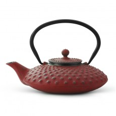 Xilin Cast Iron Teapot Set Red Teapot 0.8l & Cups
