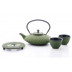Xilin Cast Iron Teapot Set Green Teapot 0.8l & Cups