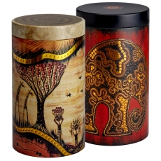 Africa Round Set of Two 500g Caddies