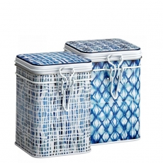 Indigo Set of Two Tea Caddies 150g