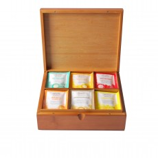 Caffeine Free Teabag Collection in a Wooden Tea Box