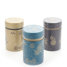 Yumiko Set of Three Tea Caddies 150g