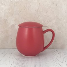Zaara Herb Tea Mug Matt Berry Red 0.35L