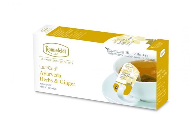 Ronnefeldt LeafCup® Ayurveda Herbs and Ginger Tea Bags