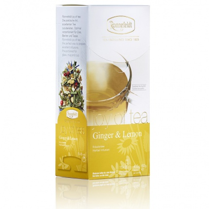 Ronnefeldt Joy of Tea Ginger and Lemon Tea Bags