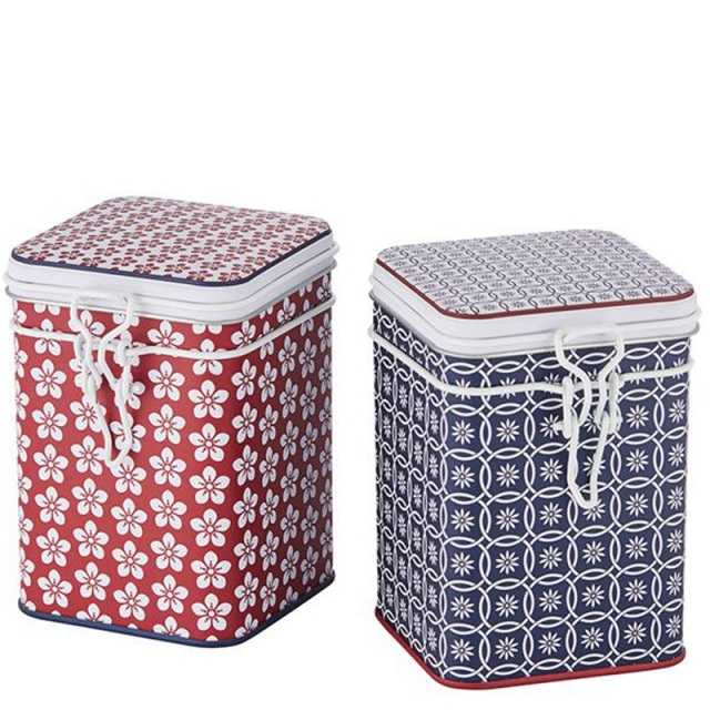 Scandic Set of Two Tea Caddies 150g