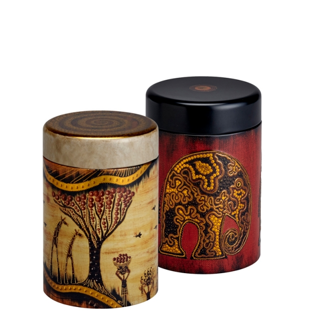 Africa Round Set of two 125g Caddies