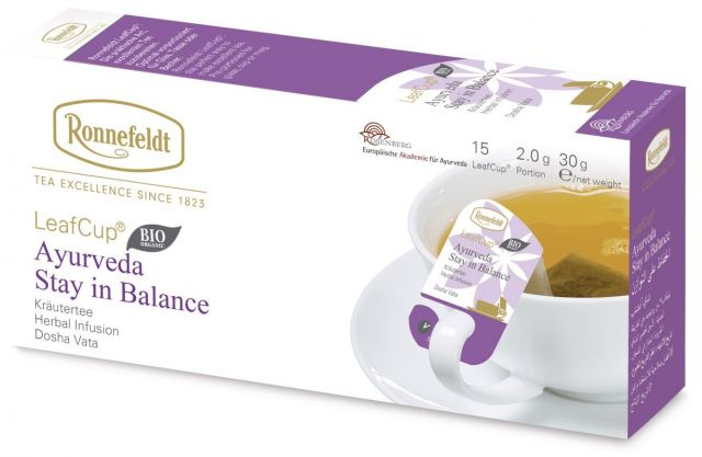 Ronnefeldt LeafCup® Ayurveda Stay In Balance Organic Tea Bags