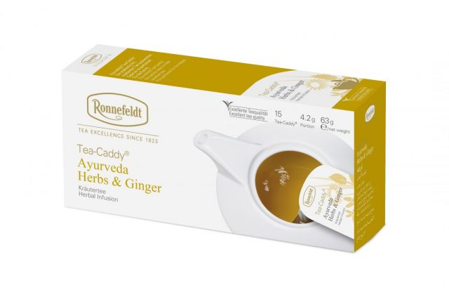 Ronnefeldt Tea-Caddy® Ayurveda Herbs and Ginger Tea Bags