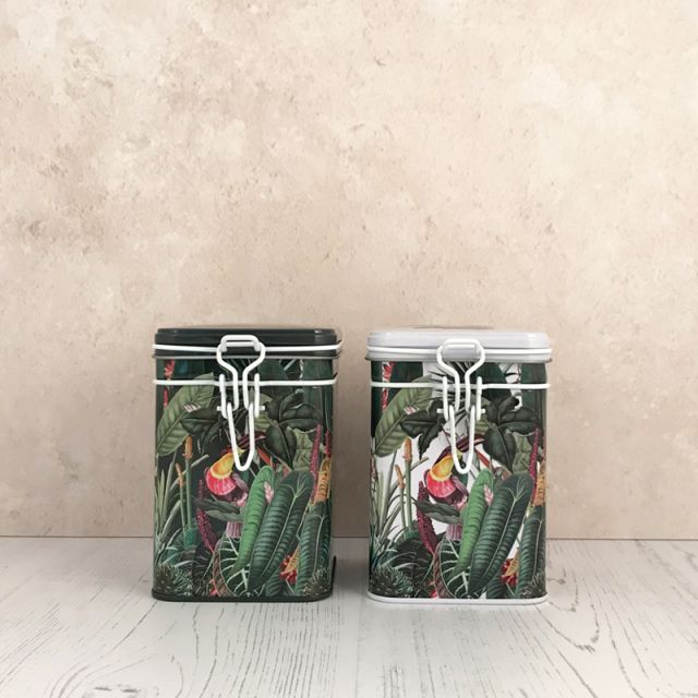 Rainforest Set of Two Tea Caddies 150g