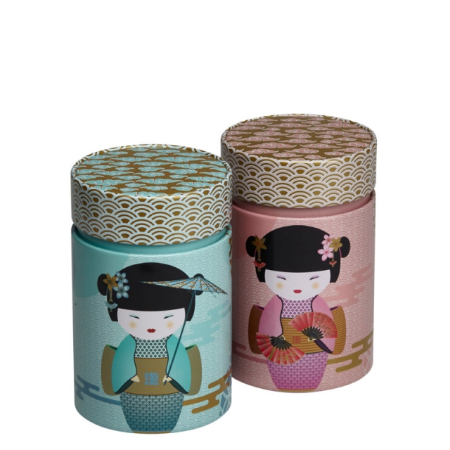 Little Geisha Set of Two Tea Caddies 150g