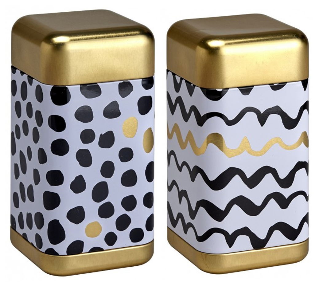 Black and White Tea Caddy Sey 200g