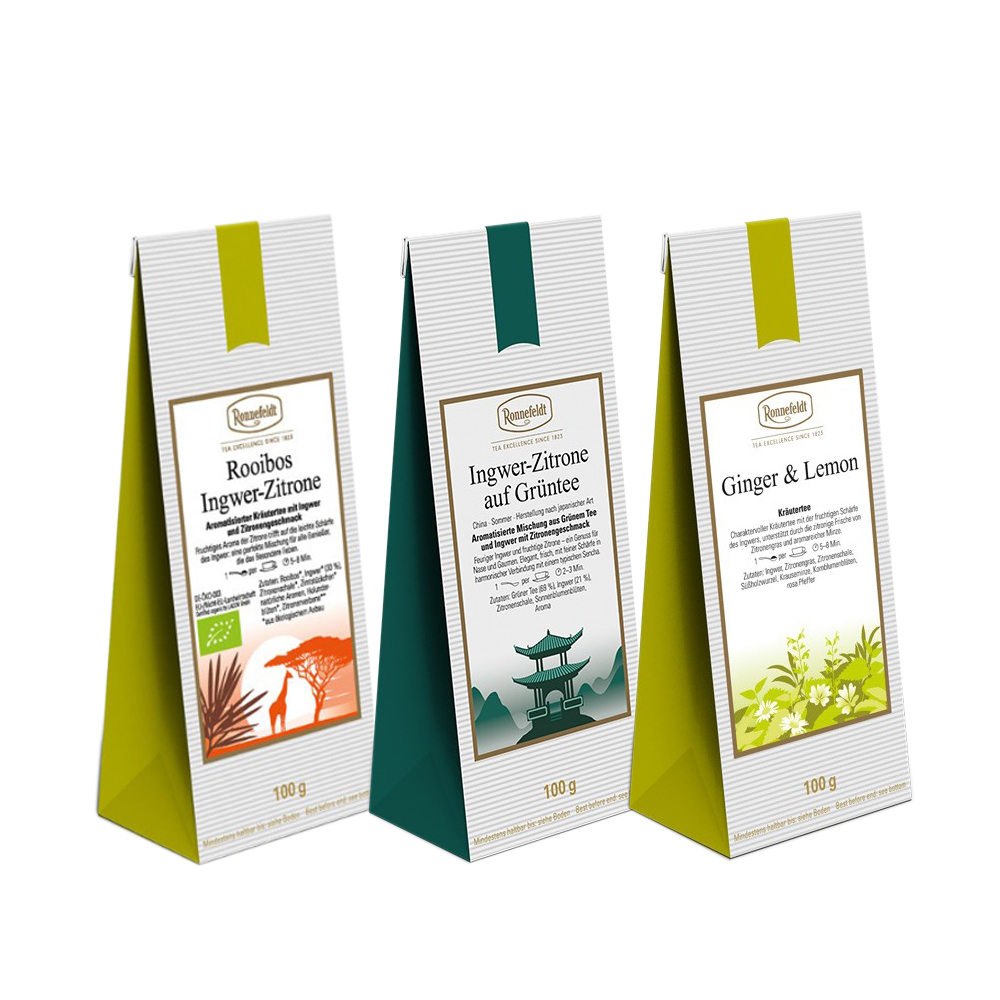 Citrus Meets Ginger loose leaf tea collection