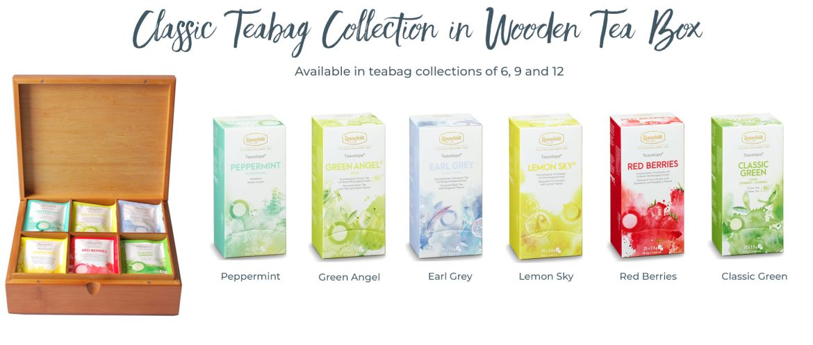 Classic Teabag Collection in Wooden Box