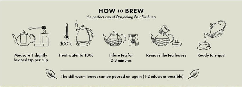 How to brew first flush teas