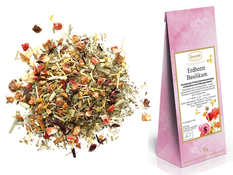 Strawberry and Basil loose leaf tea